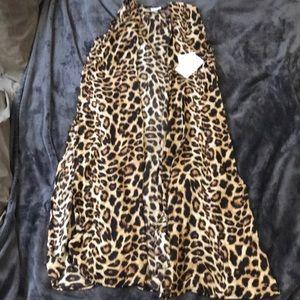 Cheetah print duster vest